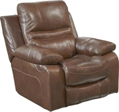 Catnapper Patton Leather Power Lay-Flat Recliner