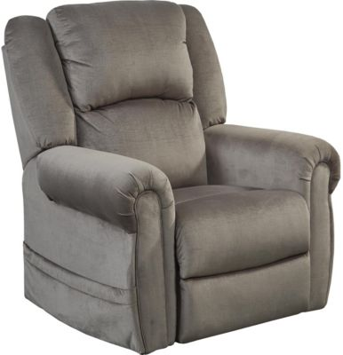 Catnapper Spencer Gray Lift Chair with Power Headrest