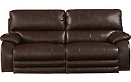 Catnapper Sheridan Brown Power Reclining Lay-Flat Sofa