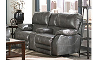 Catnapper Sheridan Gray Power Lay-Flat Loveseat