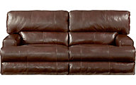 Catnapper Wembley Leather Power Reclining Lay-Flat Sofa