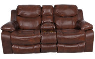 Catnapper Dallas Leather Power Reclining Loveseat w/Console