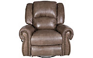 Catnapper Livingston Leather Swivel Glider Recliner