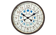 Cbk Distressed Porthole Moon Phase Wall Clock