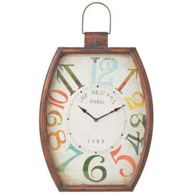 Cbk Distressed Colorfull Wall Clock