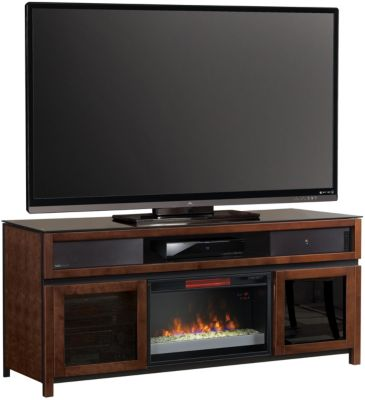 Classic Flame/Tresanti Gramercy Fireplace TV Stand with Sound Bar