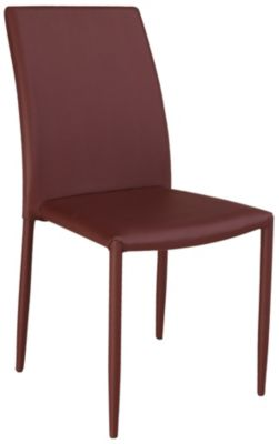 Chintaly Fiona Burgundy Side Chair
