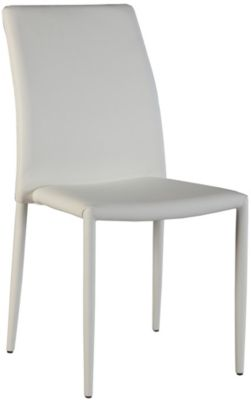 Chintaly Fiona White Side Chair