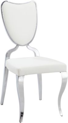 Chintaly Lacey White Side Chair