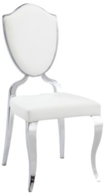 Chintaly Letty White Side Chair