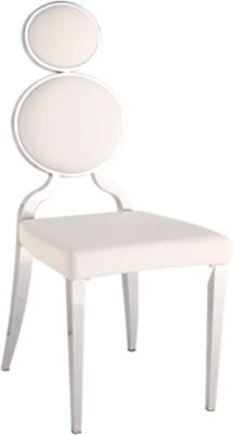 Chintaly Oprah White Side Chair