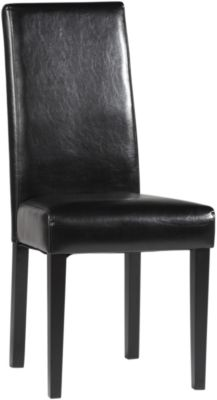 Chintaly Straight Back Parson Black Side Chair