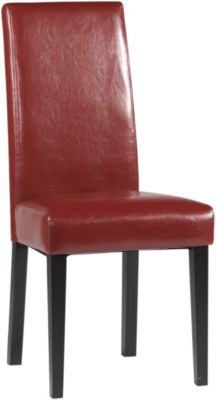 Chintaly Straight Back Parson Red Side Chair