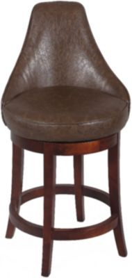 Chintaly Bonded Leather Bar Stool