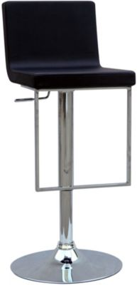 Chintaly 351 Collection Black Adjustable Stool