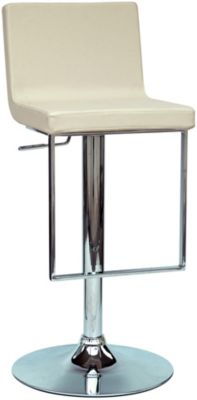 Chintaly 351 Collection Cream Adjustable Stool