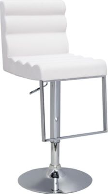 Chintaly 0357 Collection White Adjustable Stool
