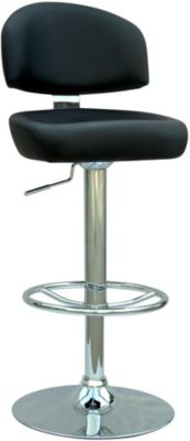 Chintaly 0362 Collection Black Adjustable Stool
