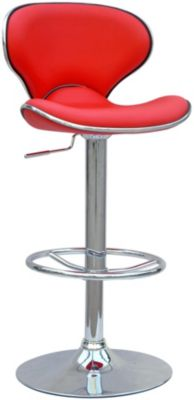Chintaly 364 Collection Red Adjustable Stool