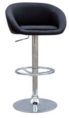 Chintaly 380 Collection Black Adjustable Stool