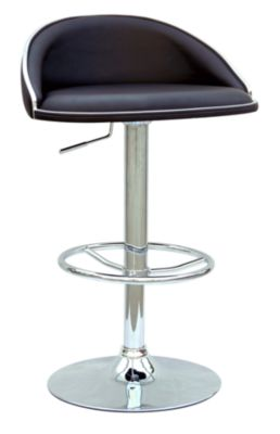 Chintaly 388 Collection Black Adjustable Stool