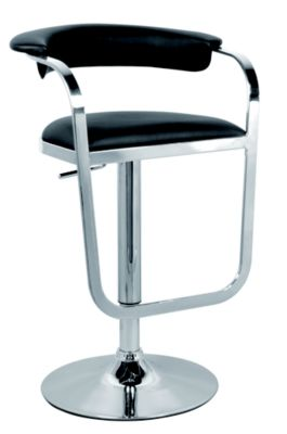 Chintaly 0392 Collection Black Adjustable Stool