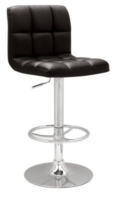 Chintaly 0394 Collection Black Adjustable Stool