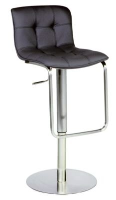 Chintaly 515 Collection Black Adjustable Stool