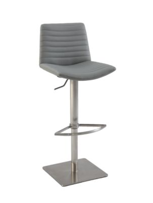 Chintaly 0572 Collection Gray Adjustable Stool
