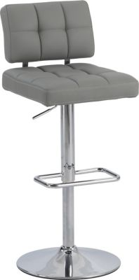 Chintaly 636 Collection Gray Adjustable Stool