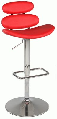 Chintaly 642 Collection Red Adjustable Stool