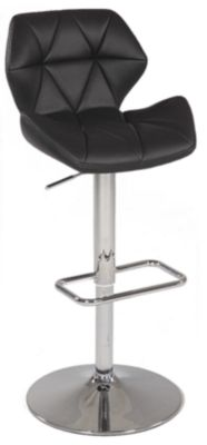 Chintaly 645 Collection Black Adjustable Stool