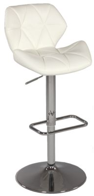 Chintaly 645 Collection White Adjustable Stool