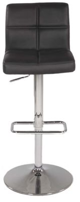 Chintaly 665 Collection Black Adjustable Stool