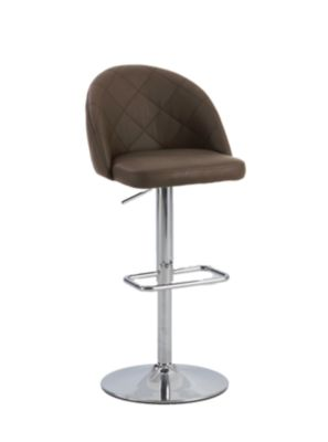 Chintaly 669 Collection Brown Adjustable Stool