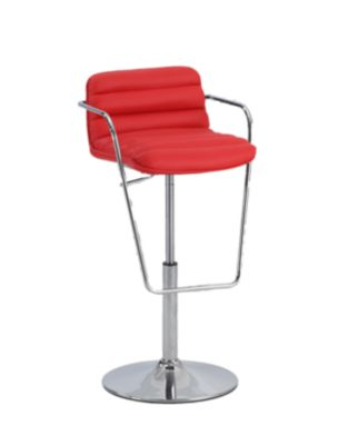 Chintaly 692 Collection Red Adjustable Stool