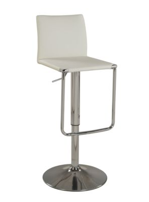 Chintaly 801 Collection White Adjustable Stool