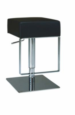 Chintaly 811 Collection Black Adjustable Stool