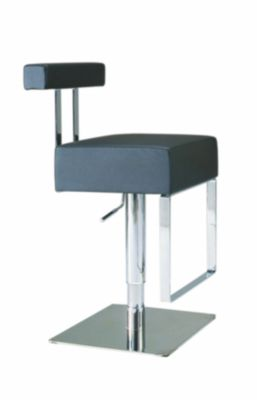 Chintaly 812 Collection Black Adjustable Stool