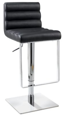 Chintaly 830 Collection Black Adjustable Stool