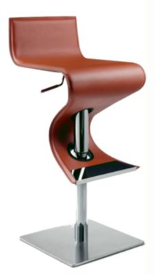 Chintaly 833 Collection Red Adjustable Stool
