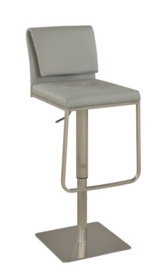 Chintaly 893 Collection Gray Adjustable Stool