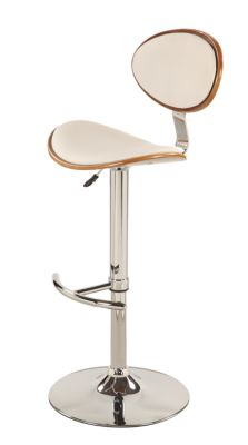 Chintaly 1309 Collection White Adjustable Stool