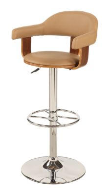 Chintaly 1386 Collection Khaki Adjustable Stool