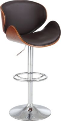 Chintaly 1403 Collection Brown Adjustable Stool