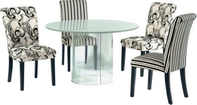 Chintaly C-Base Dining Table with 2 Misty & 2 Mandy Side Ch