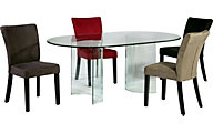 Chintaly C-Base Dining Table & 4 Monica Side Chairs