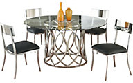 Chintaly Courtney Dining Table & 4 Lindsay Side Chairs