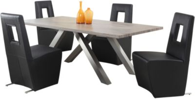 Chintaly Chasity Dining Table & 4 Side Chairs