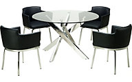 Chintaly Dusty Dining Table & 4 Arm Chairs